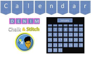 Denim, Chalk, and Stitch Calendar