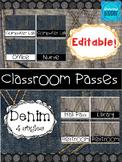 Denim Classroom Passes *Editable