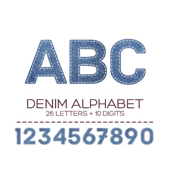 Denim Digital Alphabet