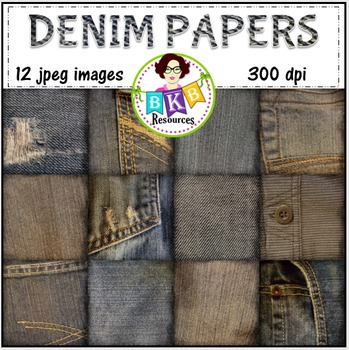 Denim Digital Background Papers - {Graphics for Commercial Use!}