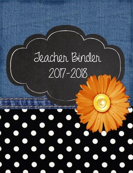 Denim, Flower, and Polka Dot Teacher Binder!