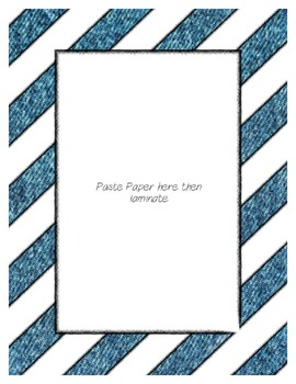 Denim Poster Frames * Create Your Own Dream Classroom / Daycare *