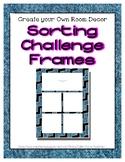 Denim Sorting Mat Frames * Create Your Own Dream Classroom