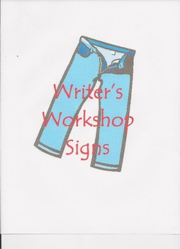 Denim Theme Writer's Workshop Signs
