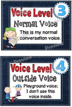 Denim  Voice Level Chart Cards Set