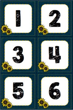Denim and Sunflower Classroom Calendar Decor