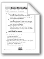 Denise Fleming Says... (Denise Fleming/author and illustrator)