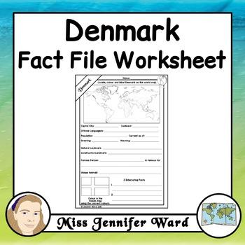 Denmark Fact File Worksheet