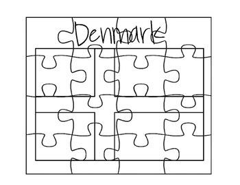 Denmark Flag Puzzle Set