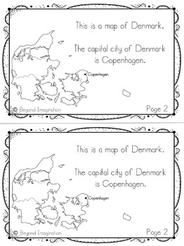 Denmark Country Study   48 Pages for Differentiated Learning + Bonus Pages