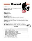 Denmark Information & Worksheet