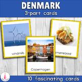 Denmark Montessori 3-part Cards