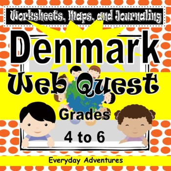 Denmark:  Work Sheets, Maps, and Journaling Pages