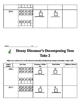 Denny Dinosaur's Decomposing Tens to Subtract