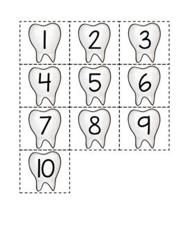 Dénombrement 1 à 20 (La fée des dents)
