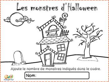 Dénombrement - 6 à 10 - Les monstres d'Halloween