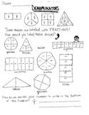 Denominators Concept Worksheet