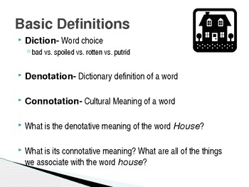 Examples Of Diction In Literature Denotation, Con...
