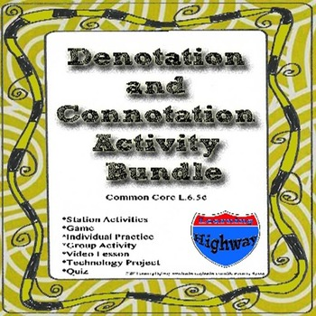 Denotation and Connotation Activity Bundle