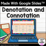 Denotation and Connotation Activity INTERACTIVE GOOGLE SLIDES Distance Learning