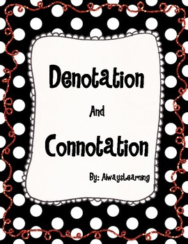Denotation and Connotation Activity