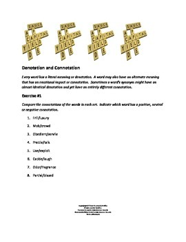 Denotation and Connotation Exercises
