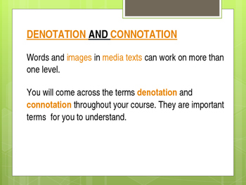 Denotation and Connotation Notes + Activity