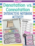 Connotation and Denotation: FREE Bonus Lesson for Interactive Reading Notebooks