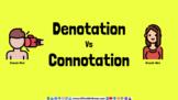 Denotative vs Connotative Meaning Activity Google Slides TEK 1.2B