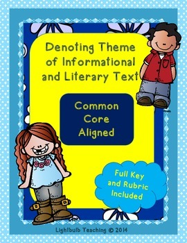 Denoting Theme within Informational and Literary Texts