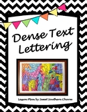 Dense Text Art Lesson Plan by Sweet Southern Charm
