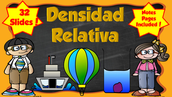 Densidad Relativa- Density with Notes