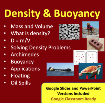 Density and Buoyancy - Google Slides and PowerPoint Lesson