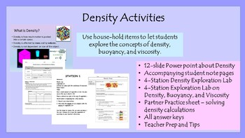 Density Activities