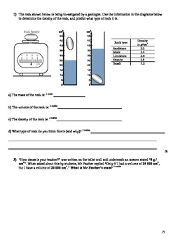 Density Booklet & Assessment