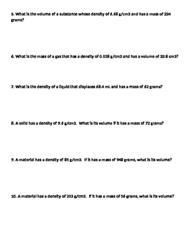 Density Calcuations #1
