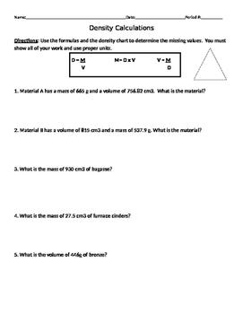 Density Calculations #2