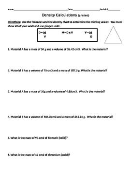 Density Calculations #3