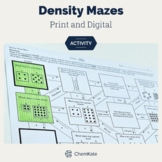 Density Mazes Calculations and Conceptual/Visual Worksheet