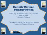 Density Column Demonstration Foldable