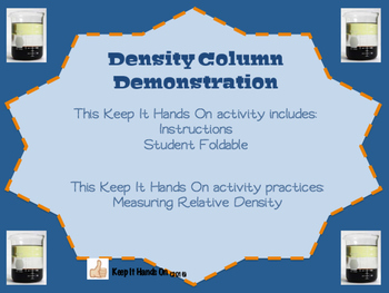 Density Column Demonstration Foldable