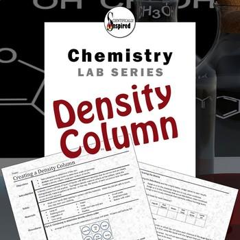 Density Column Lab - Properties of Matter - Uses a Data Matrix
