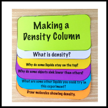 Density Column Lesson NGSS Aligned