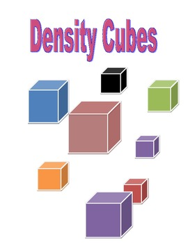 Density Cube Lab with lesson plan