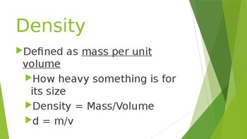 Density - Definition Applications and Calculations