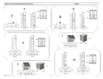 Density Dry Lab Worksheet (L2, Part 2)
