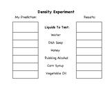 Density Experiment