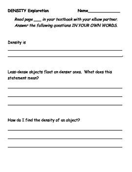 Density Exploration Activity