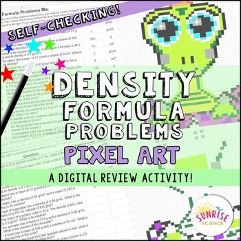 Density Formula Problems Finding Mass Volume Pixel Art Digital Review