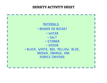 Density Group Activity